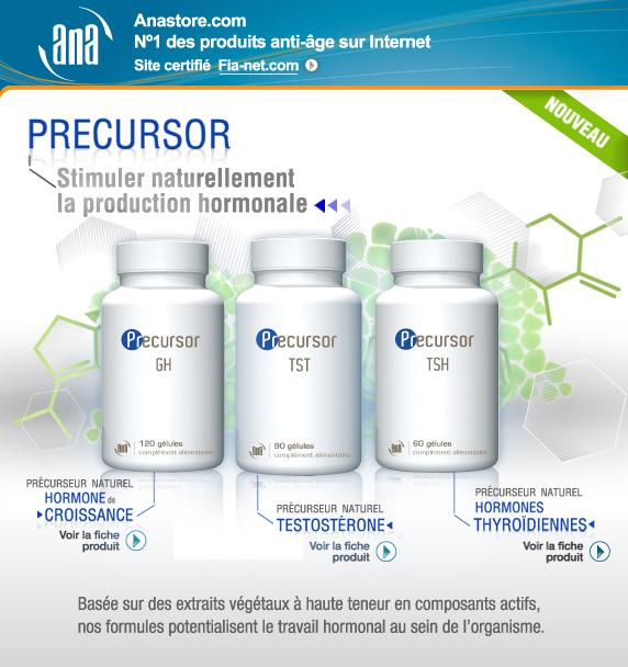 PRECURSOR : Stimuler naturellement la production hormonale. Basée sur des extraits végétaux à haute teneur en composants actifs, nos formules potentialisent le travail hormonal au sein de l'organisme