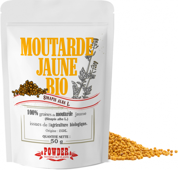 Graines de moutarde jaune Bio