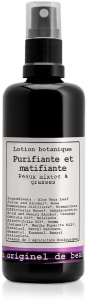 Lotion Botanique Purifiante et matifiante